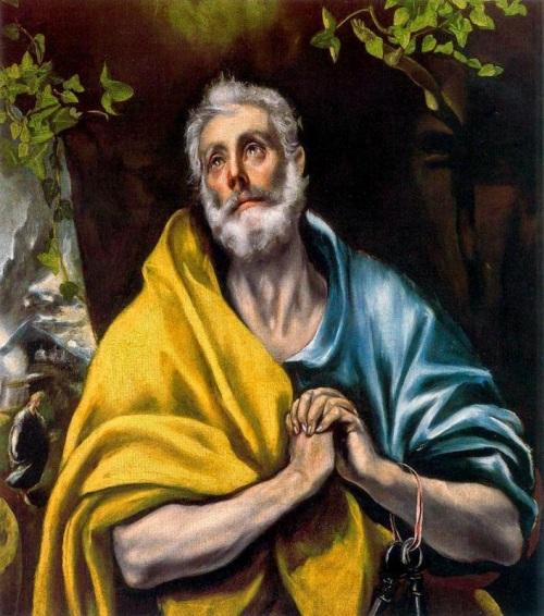 Las+lágrimas+de+San+Pedro.+1587-1596.+Óleo+sobre+lienzo.+97+x+79+cm.+Museo+Soumaya.+México.+D.F.
